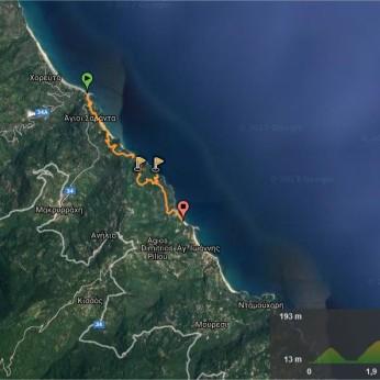 Wikiloc - Πήλιο Χορευτό-Αι Γιάννης Pelion Chorefto-Ai Giannis (Agios Ioannis) διαδρομή - Horefto, Thessaly (Greece)- GPS track - M